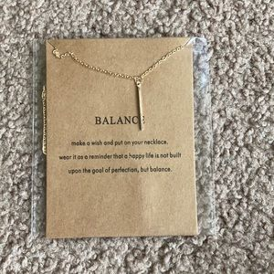 Balance dainty necklace